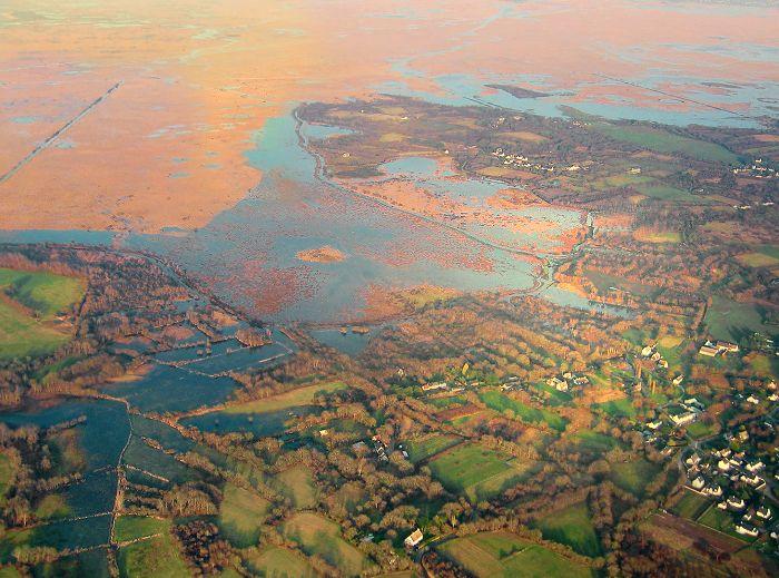 vue aerienne #4 de la Brière