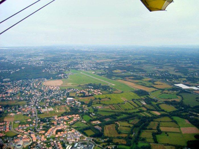 photo aerienne de l'aérodrome de La Baule