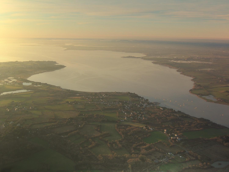 vue aérienne de l'estuaire de la Vilaine
