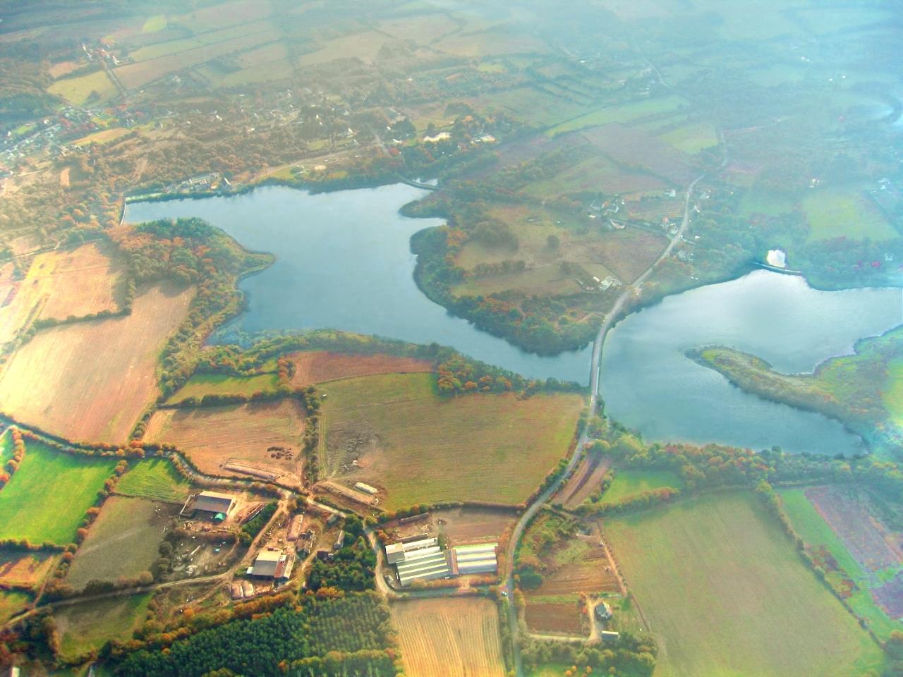 Photo aerienne de l'étang de Sandun