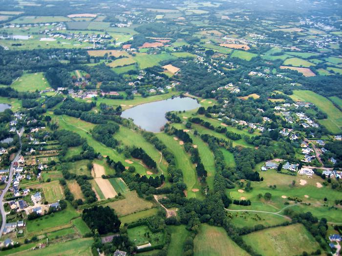 photo aerienne du Golf St Denac