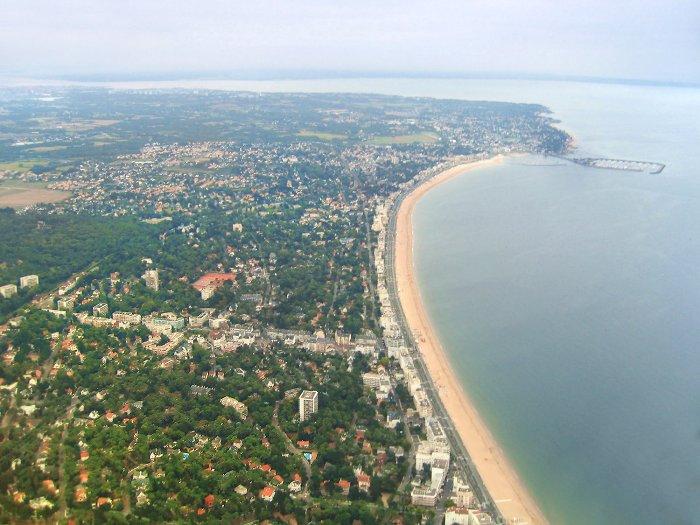 vue aérienne de La Baule et de Pornichet