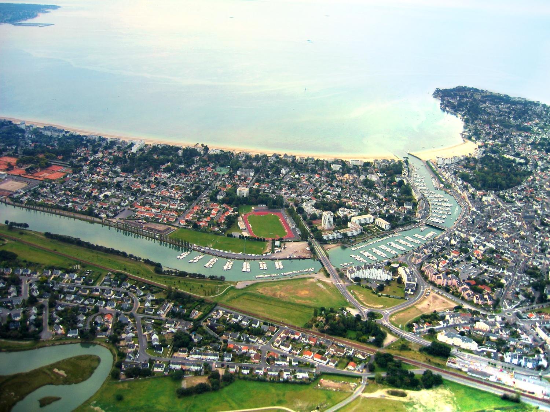Photo aérienne du port de plaisance de La Baule