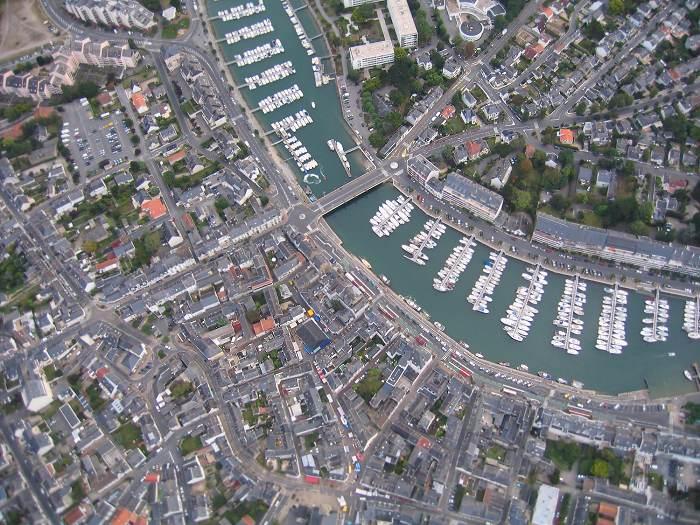 vue aerienne #2 du port de plaisance de La Baule