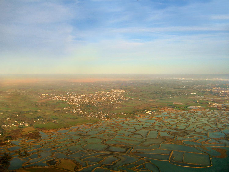 Vue aerienne des Marais salants de Guérande