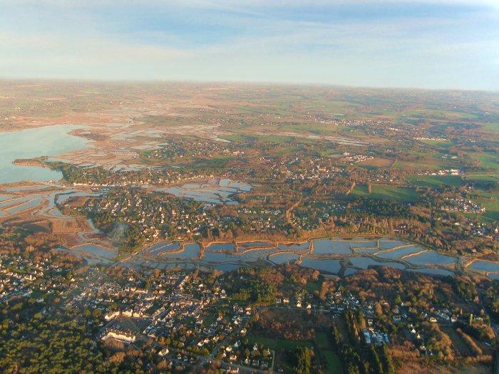 Vue aerienne des marais de Merquel