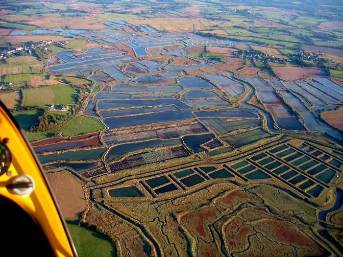 vue aérienne des Marais-Salants de Guérande