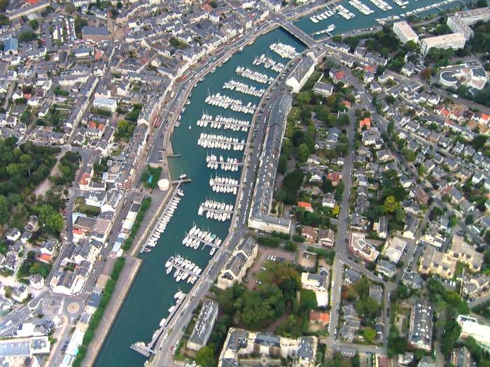 photo aerienne du Port de Plaisance du Pouliguen