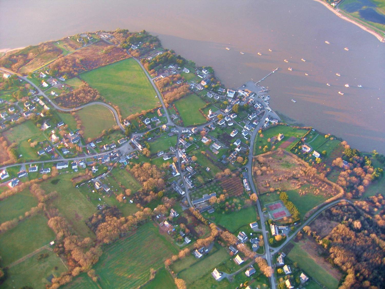 vue aérienne de Tréhiguier sur la Vilaine